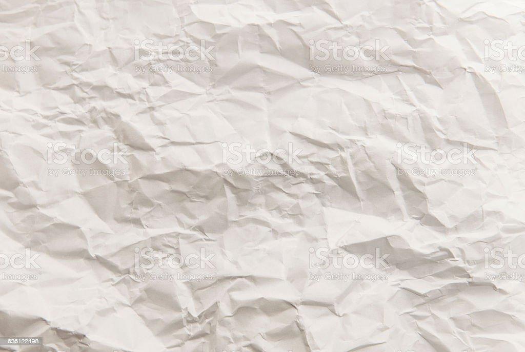 Crumpled light white art paper Texture stock photo