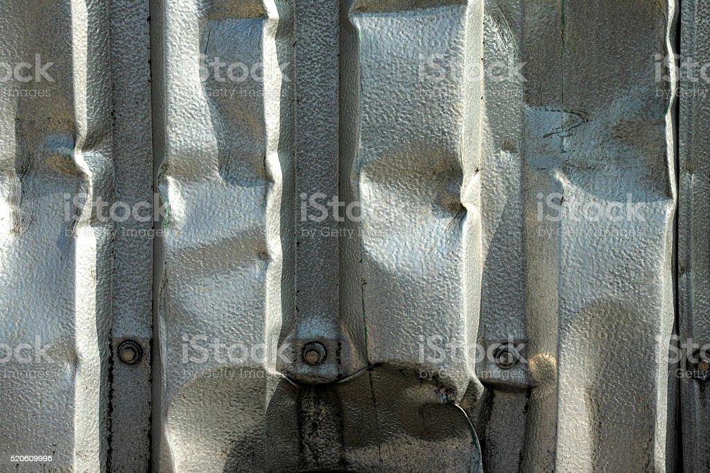 Crumpled metal sheet royalty-free stock photo