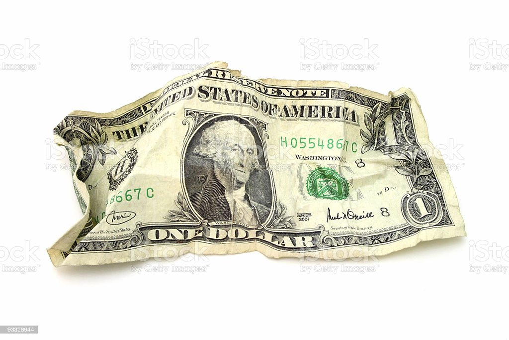 crumpled  money royalty-free stock photo