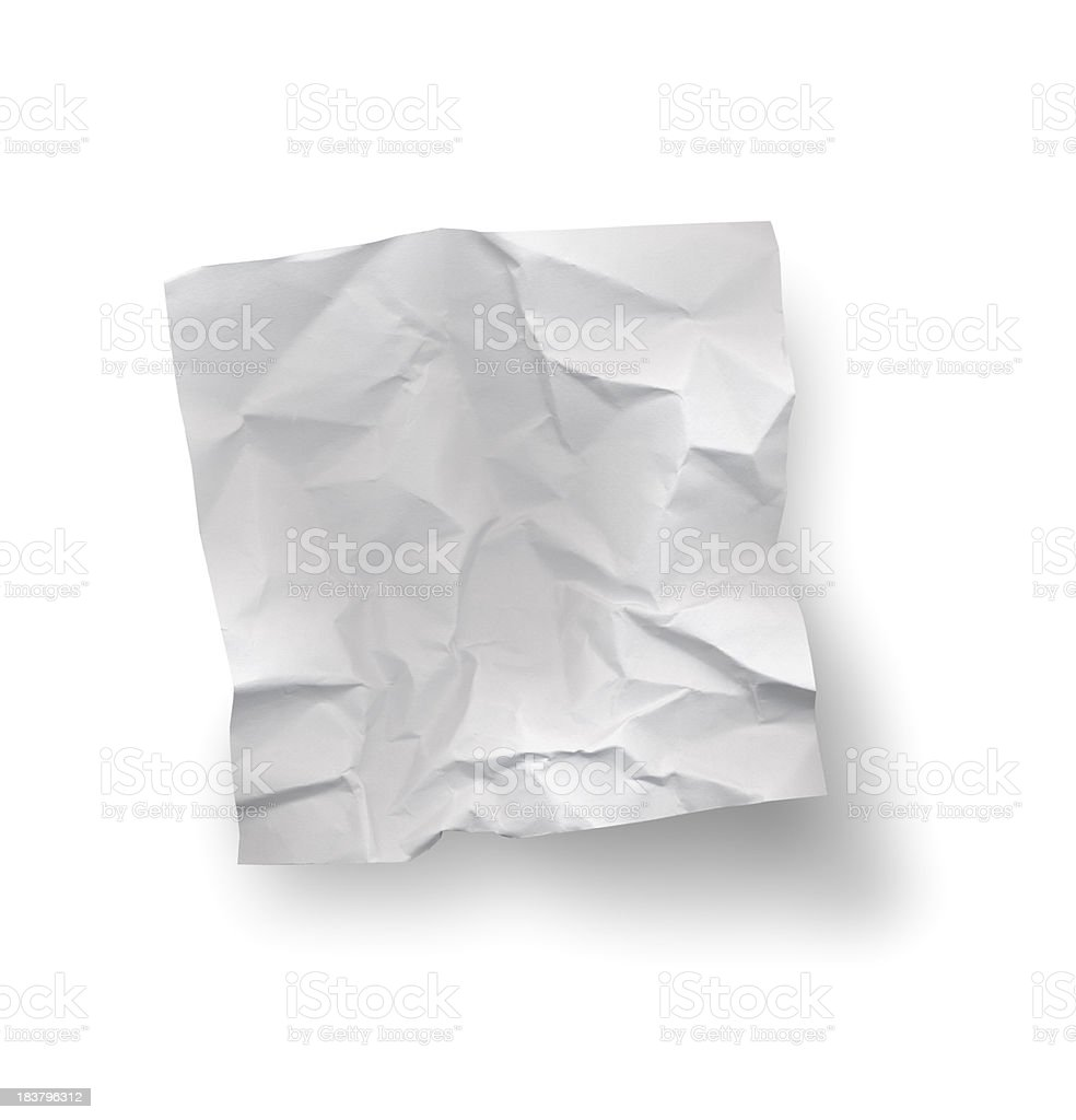 Crumpled Note Paper stock photo
