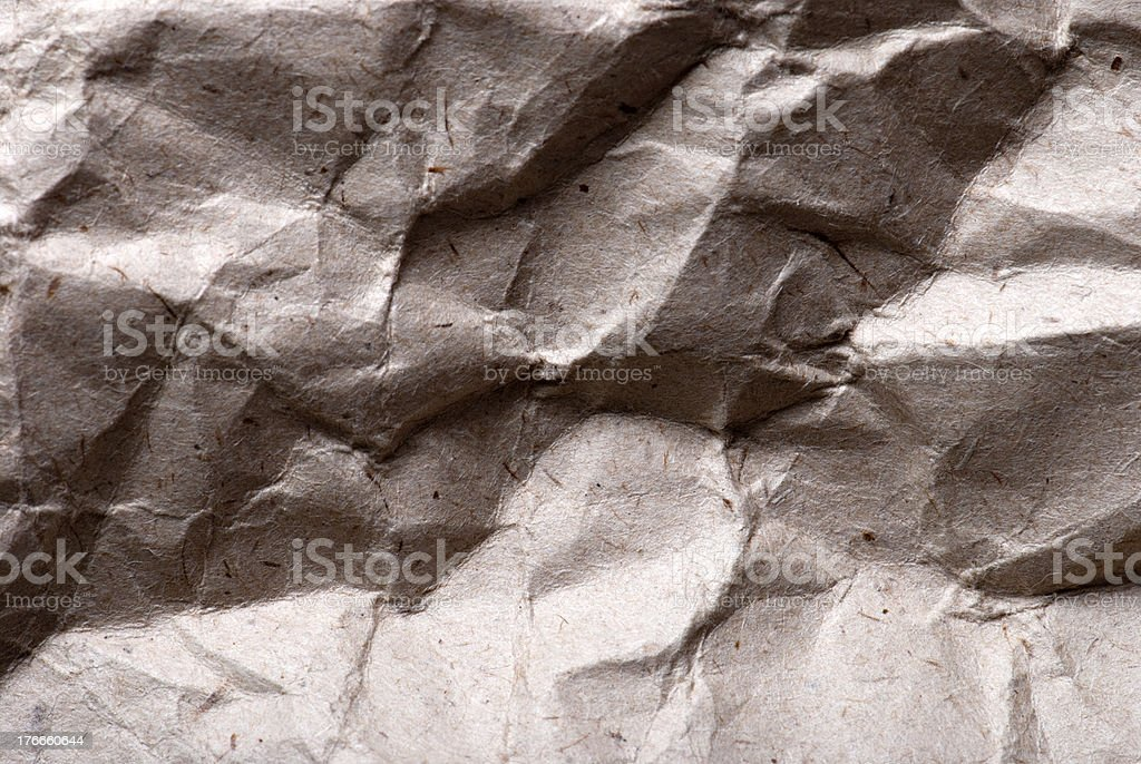 crumpled paper background royalty-free stock photo