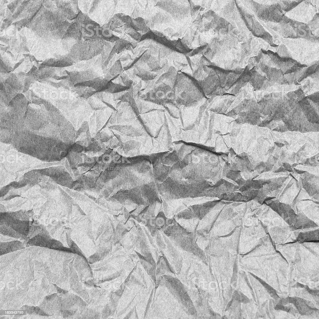 Crumpled paper background texture royalty-free stock photo