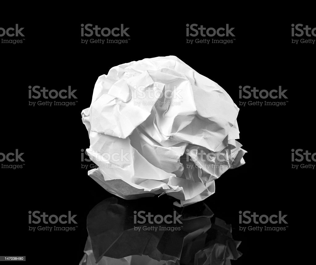 Crumpled paper ball royalty-free stock photo