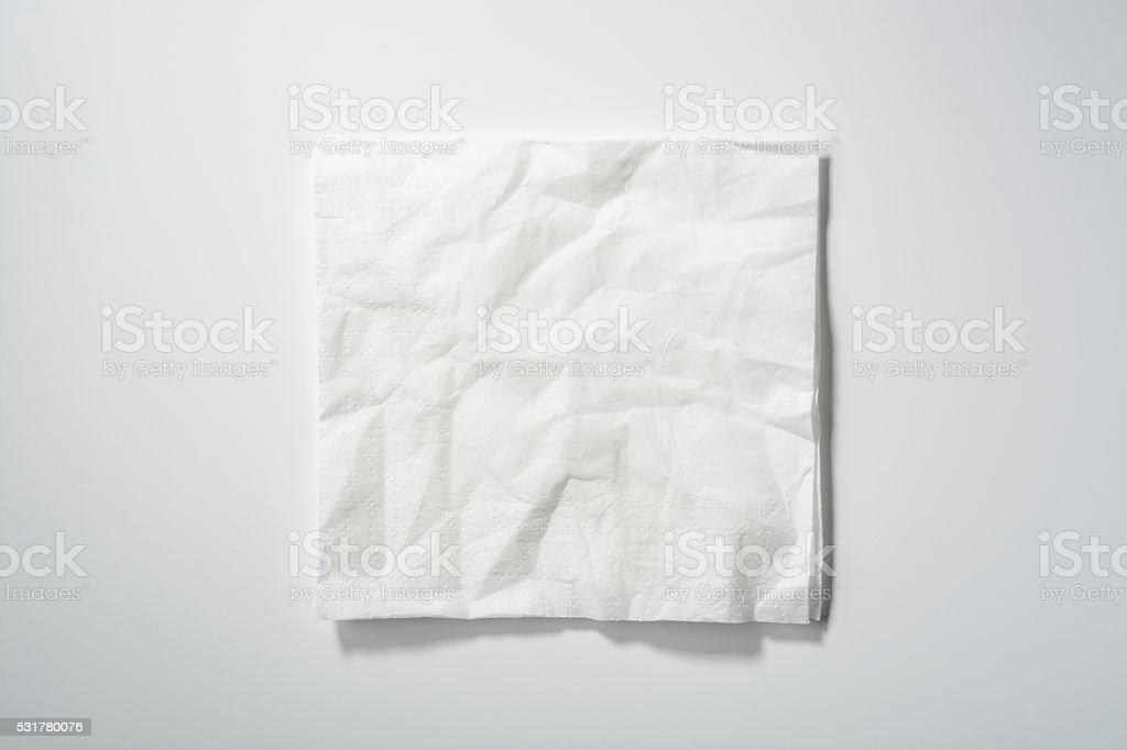 Crumpled paper napkin stock photo