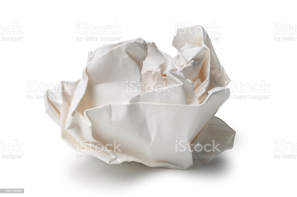 Crumpled Paper stock photo