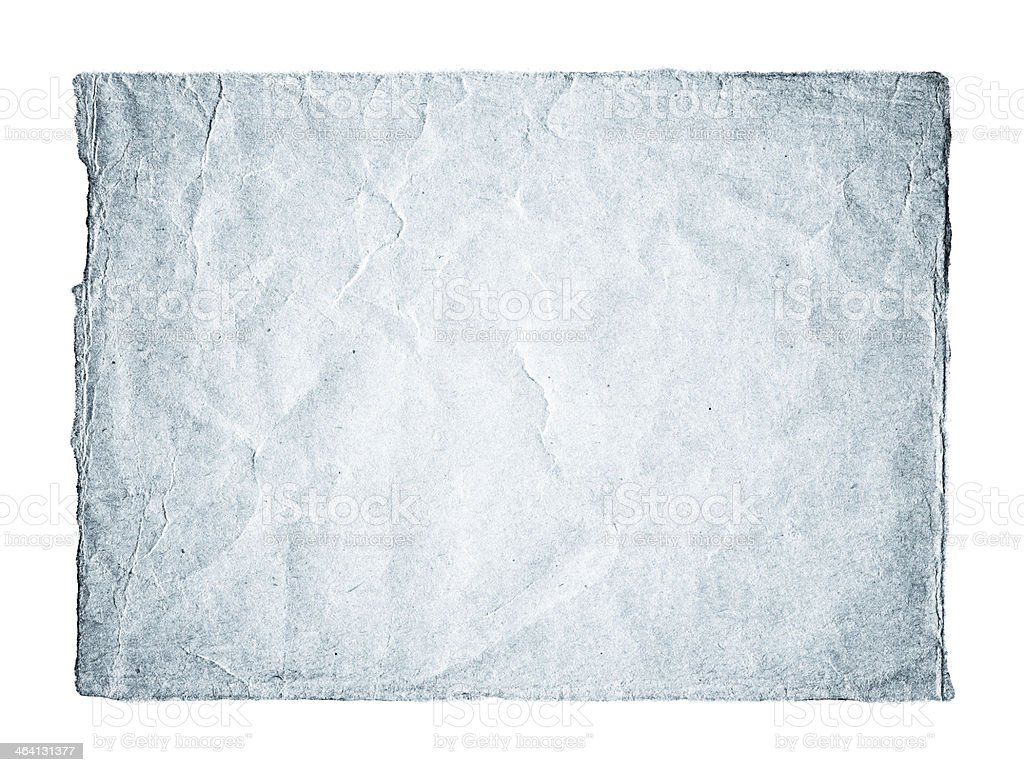 Crumpled paper textured isolated on white background royalty-free stock photo