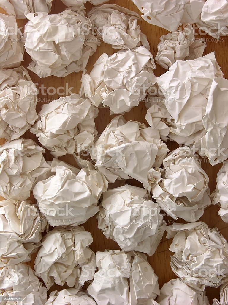 Crumpled papers background royalty-free stock photo