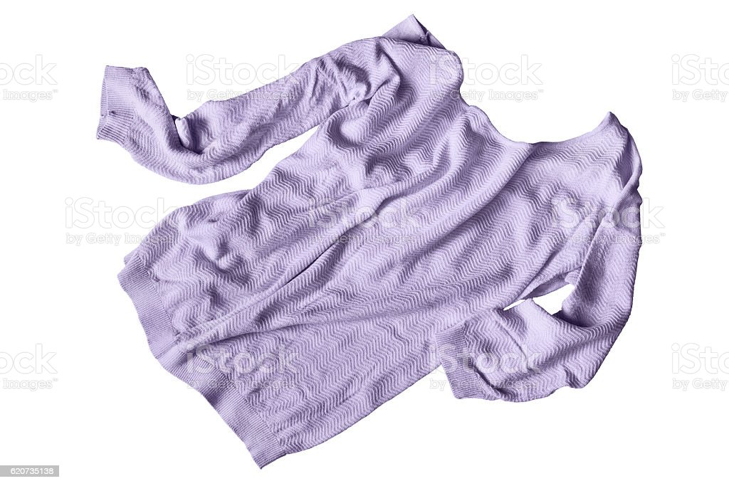 Crumpled pullover isolated stock photo