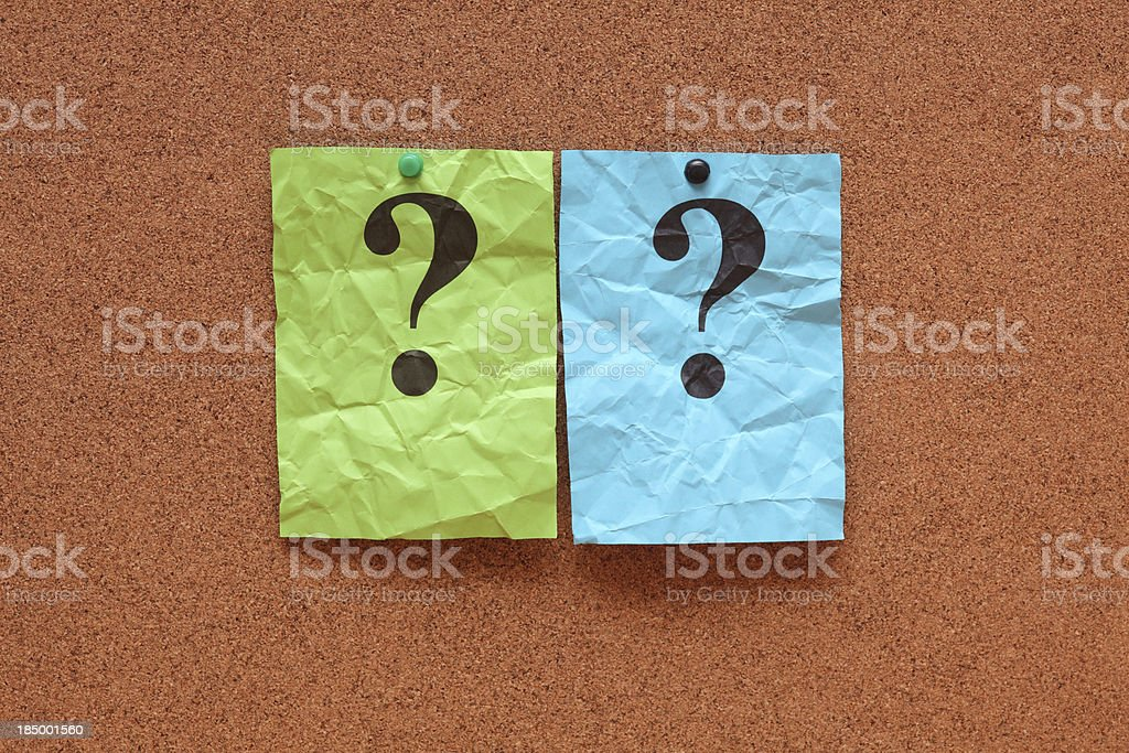 Crumpled question marks royalty-free stock photo