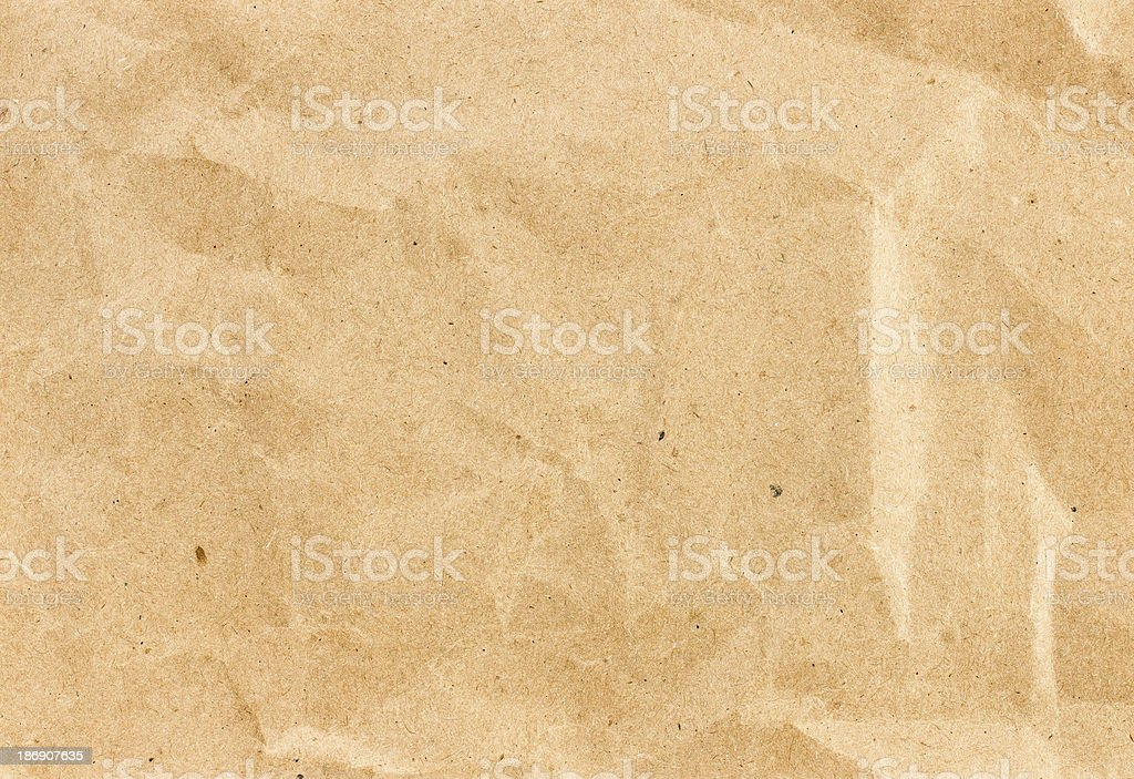 Crumpled  recycled paper  background texture. Vintage craft pape royalty-free stock photo