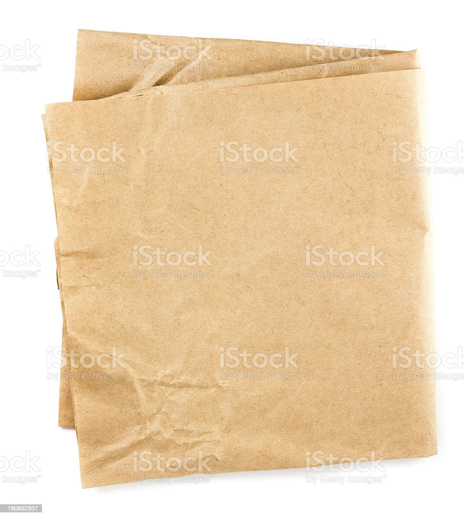 Crumpled recycled paper  texture or background. stock photo