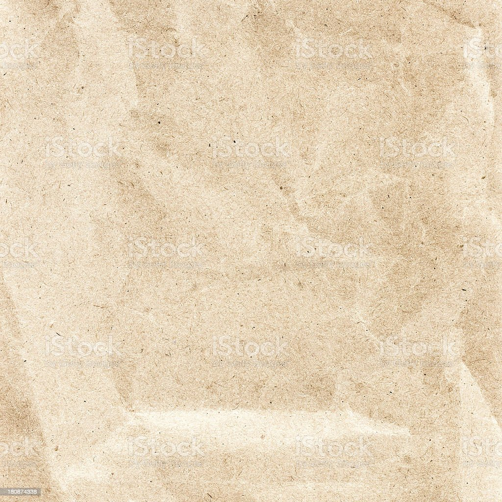 Crumpled recycled paper  texture or background. Vintage craft pa royalty-free stock photo