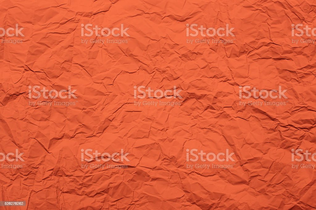 Crumpled red paper stock photo