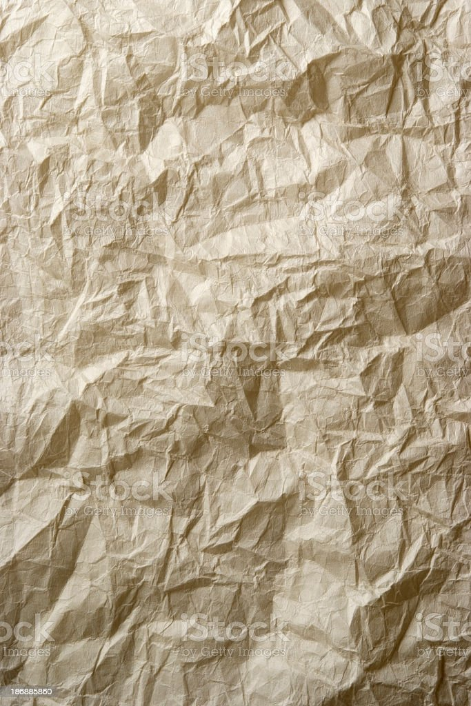 Crumpled rice paper texture background royalty-free stock photo