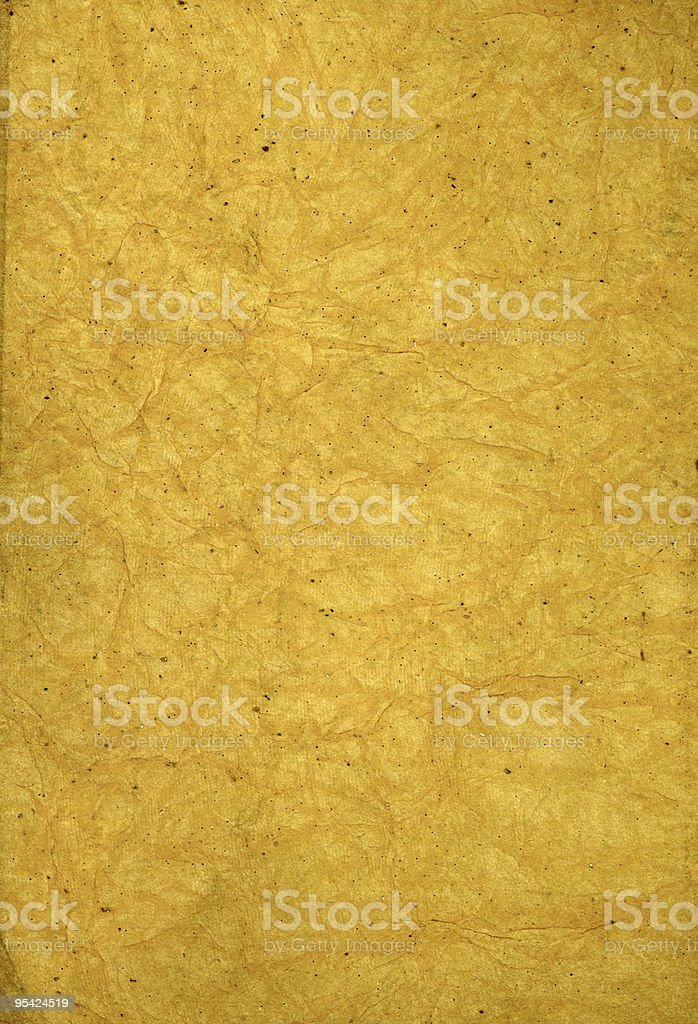 Crumpled sepia paper royalty-free stock photo
