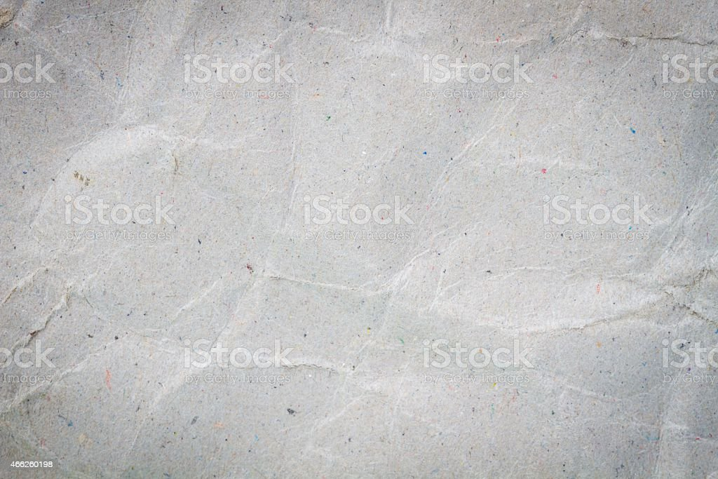 crumpled sheet of recycled paper stock photo