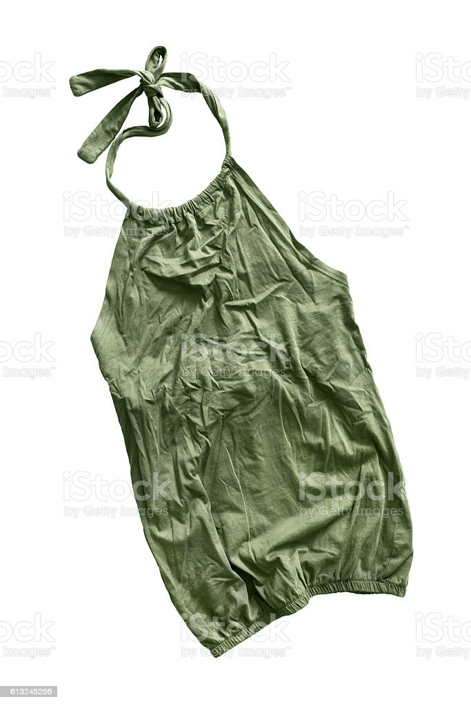 Crumpled top isolated stock photo
