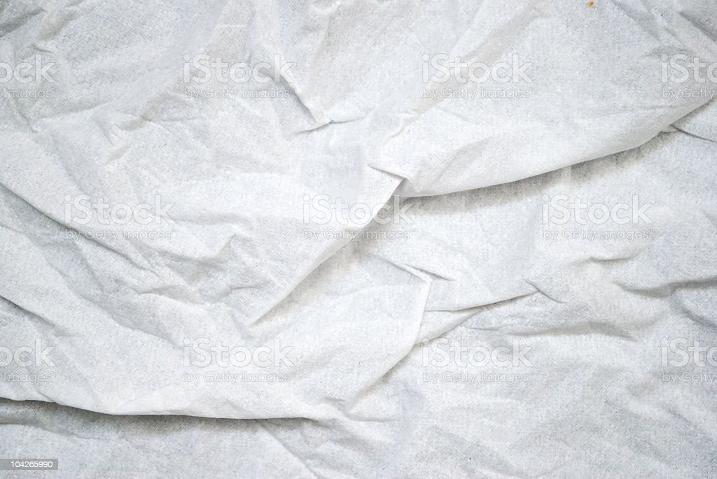 Crumpled up tissue paper with many creases stock photo