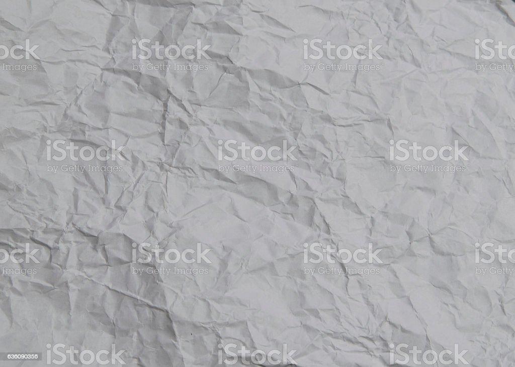 Crumpled white art aquarel paper Texture stock photo