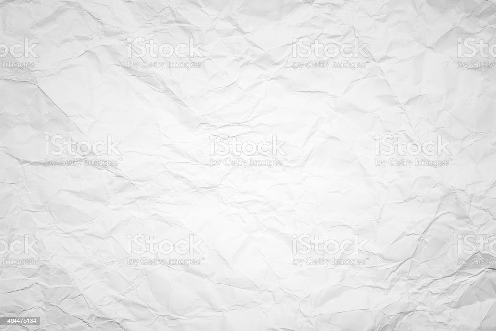 Crumpled white paper background stock photo