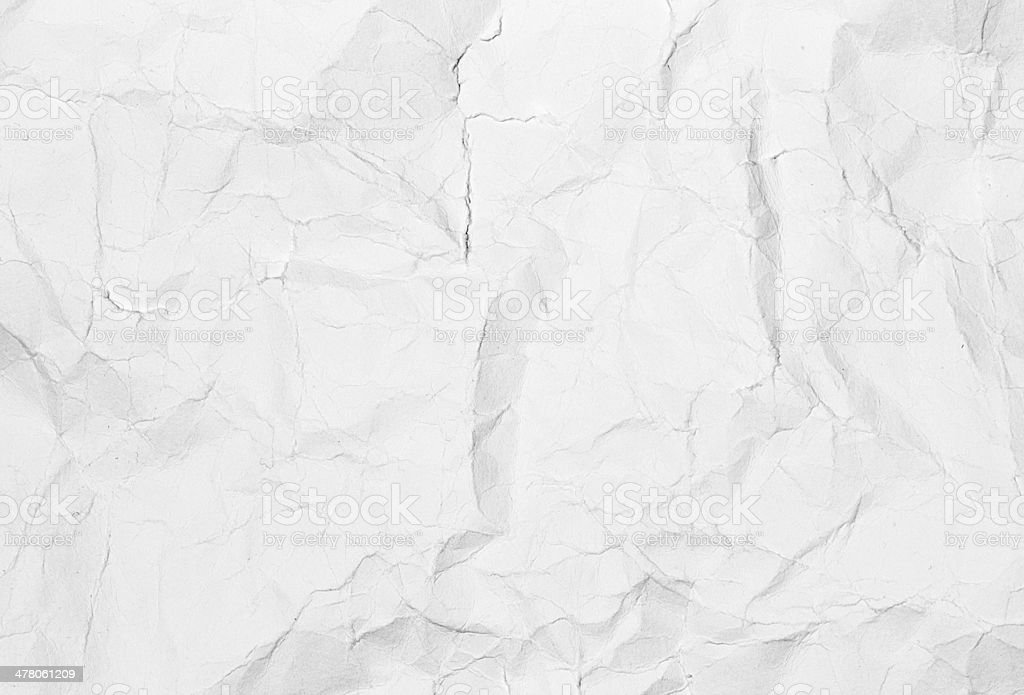 Crumpled white paper background texture. Vintage craft royalty-free stock photo