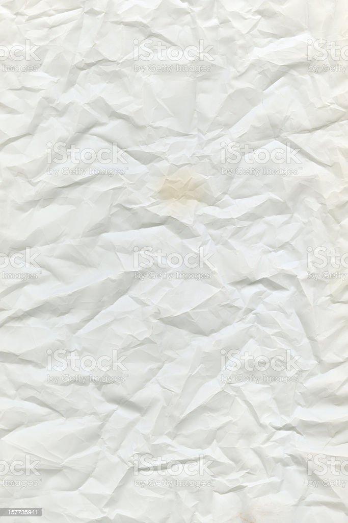 crumpled white paper stock photo