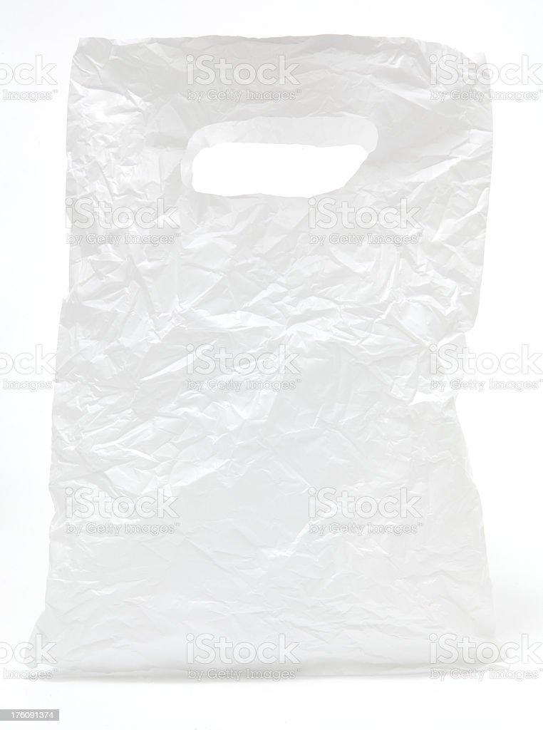 Crumpled white plastic bag royalty-free stock photo