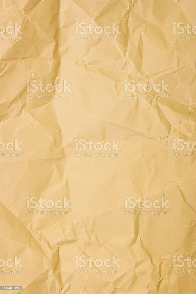Crumpled wrapping paper royalty-free stock photo