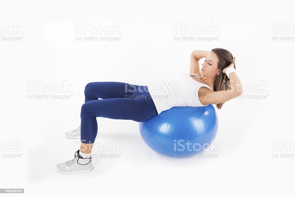Crunches stock photo