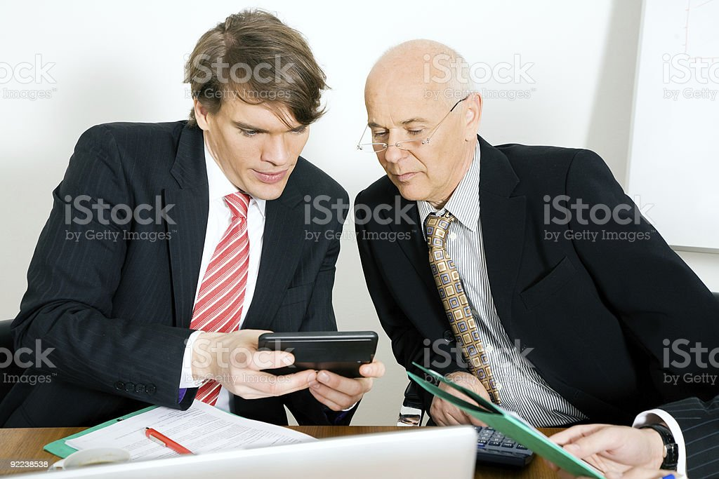 Crunching numbers royalty-free stock photo