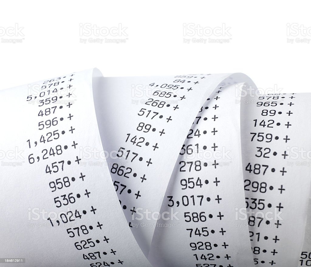 crunching the numbers stock photo
