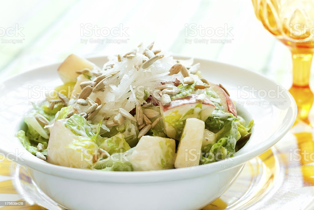 Crunchy Apple and Sunflower Seed Salad royalty-free stock photo