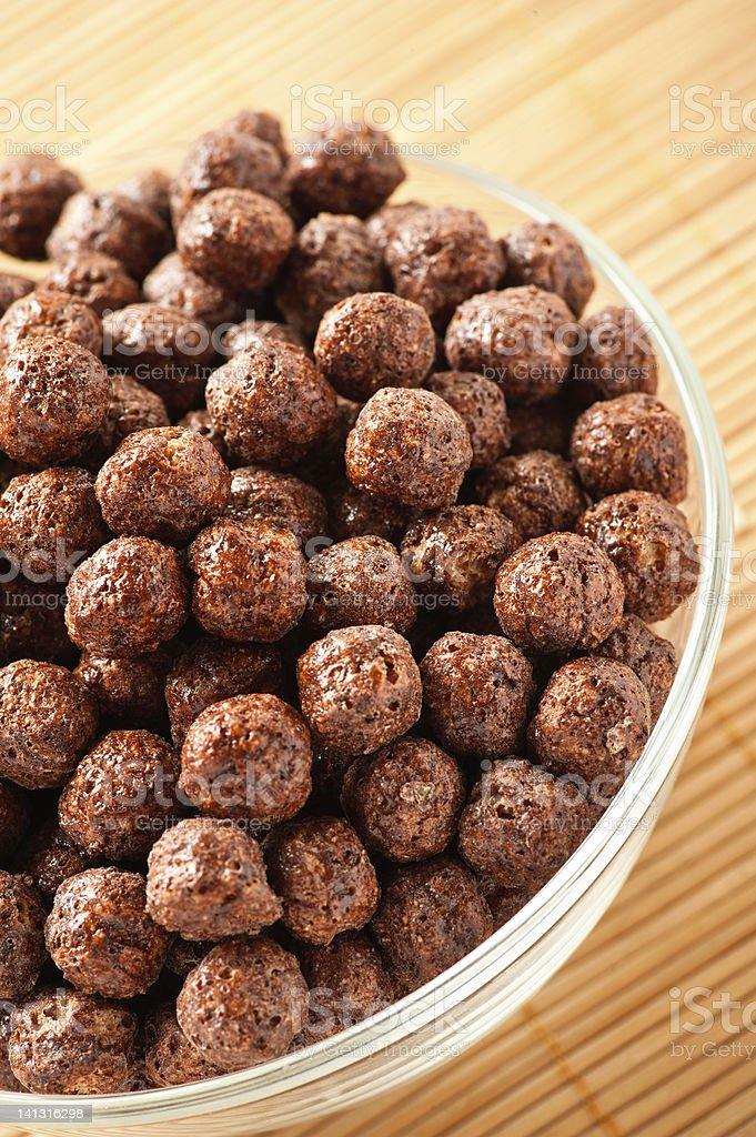 crunchy chocolate balls stock photo