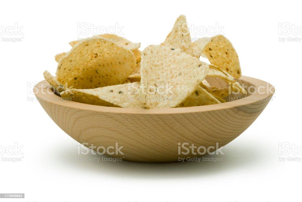Crunchy Tortilla Chips royalty-free stock photo