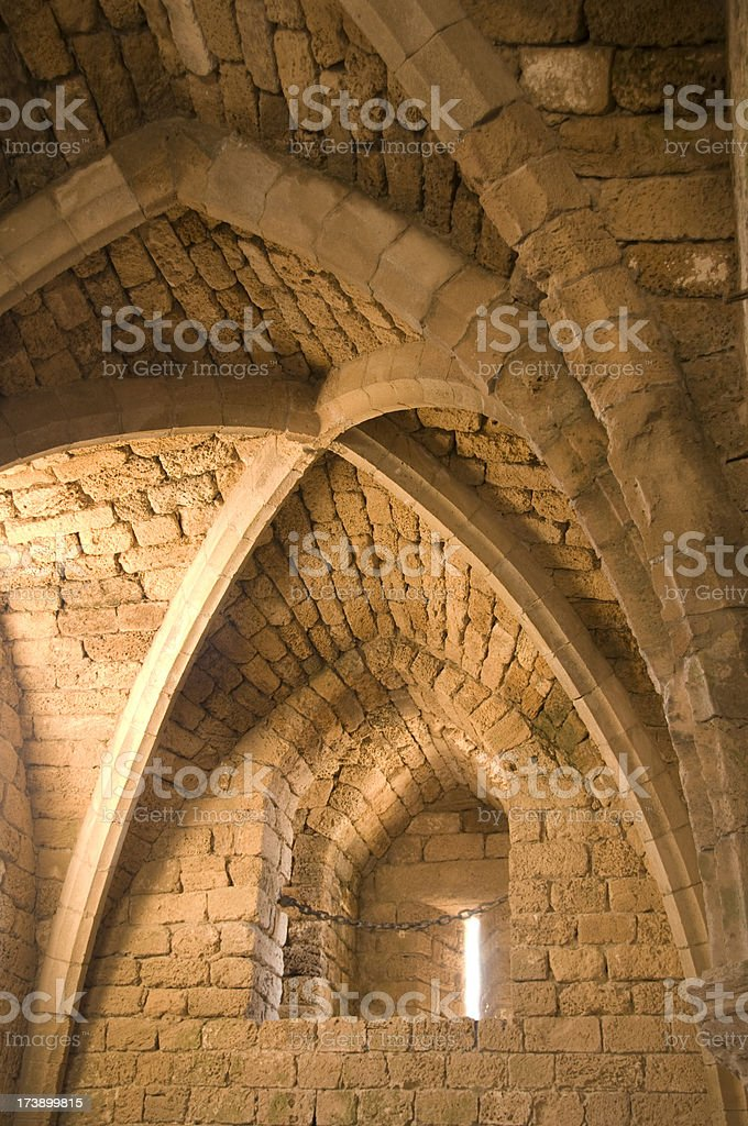 Crusader Arches stock photo