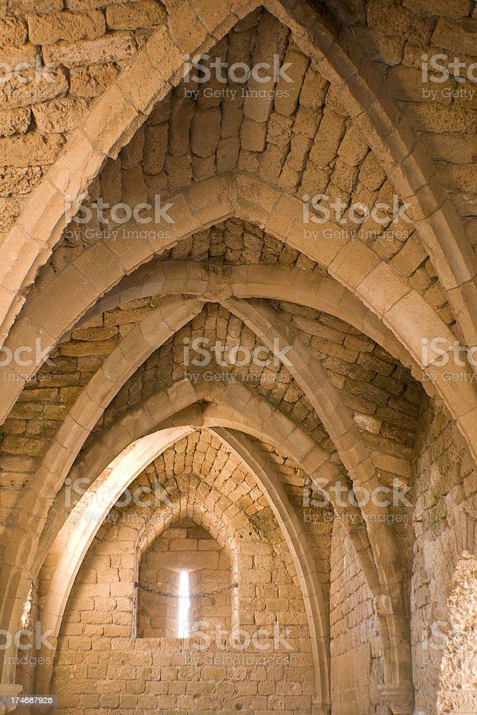 Crusader Arches stock photo