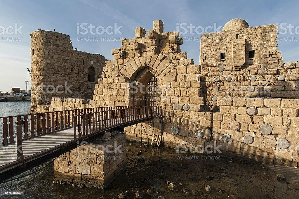 Crusader Castle stock photo