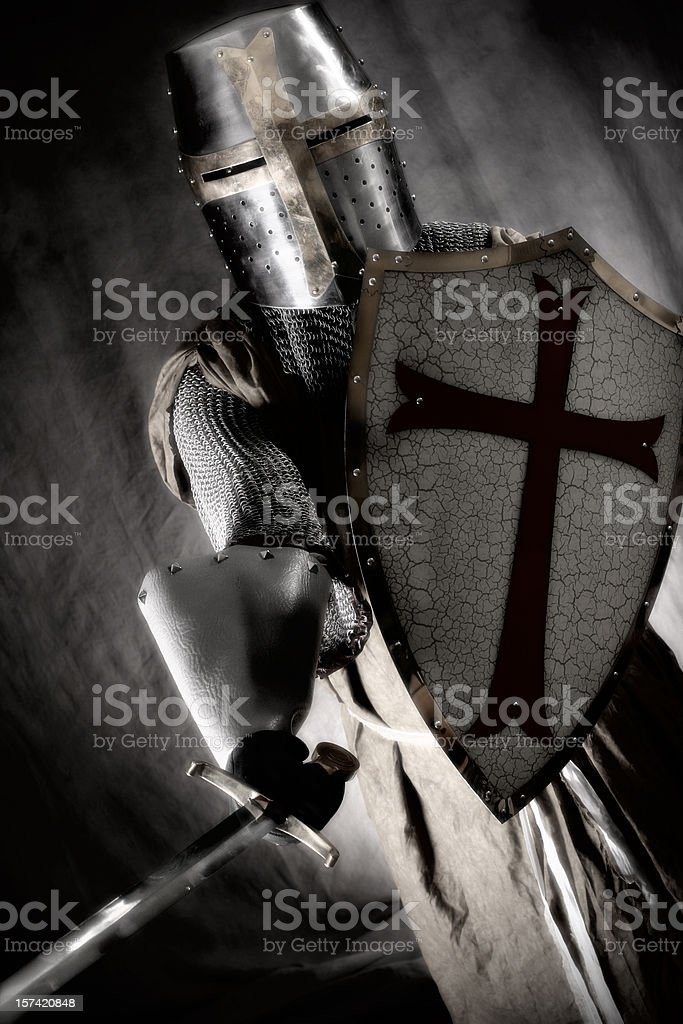 Crusader on the Attack stock photo