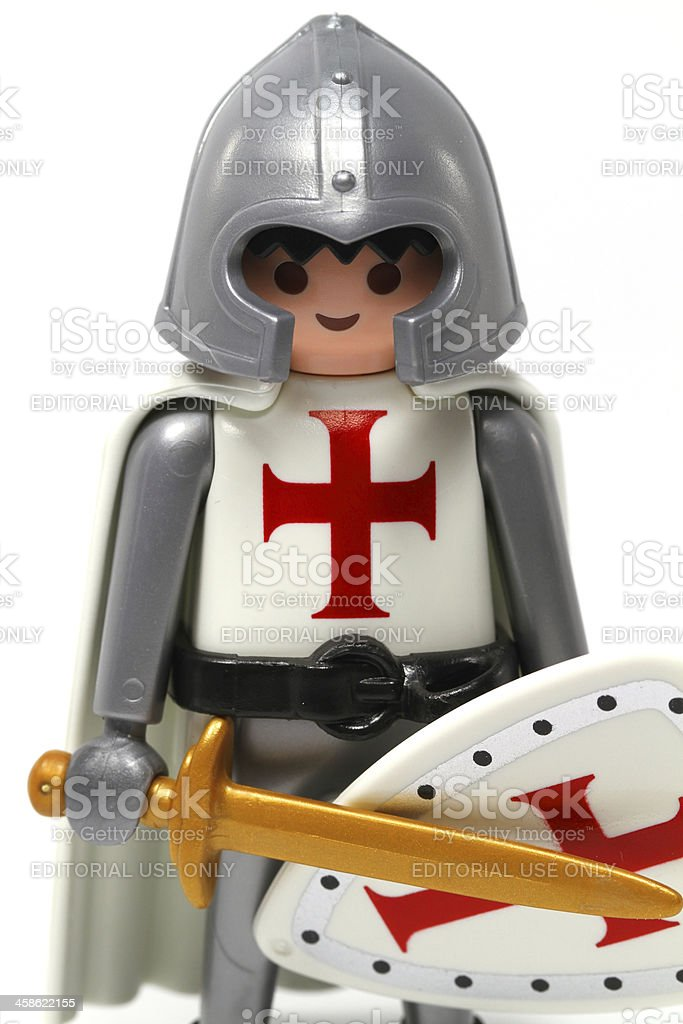 Crusader stock photo