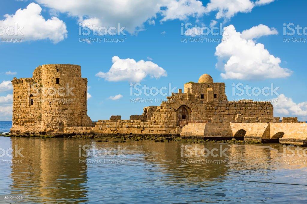 Crusaders Sea Castle Sidon Saida South Lebanon stock photo