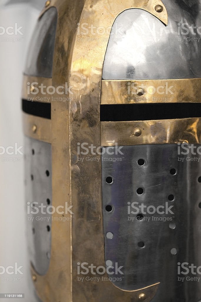 crusade's helmet stock photo