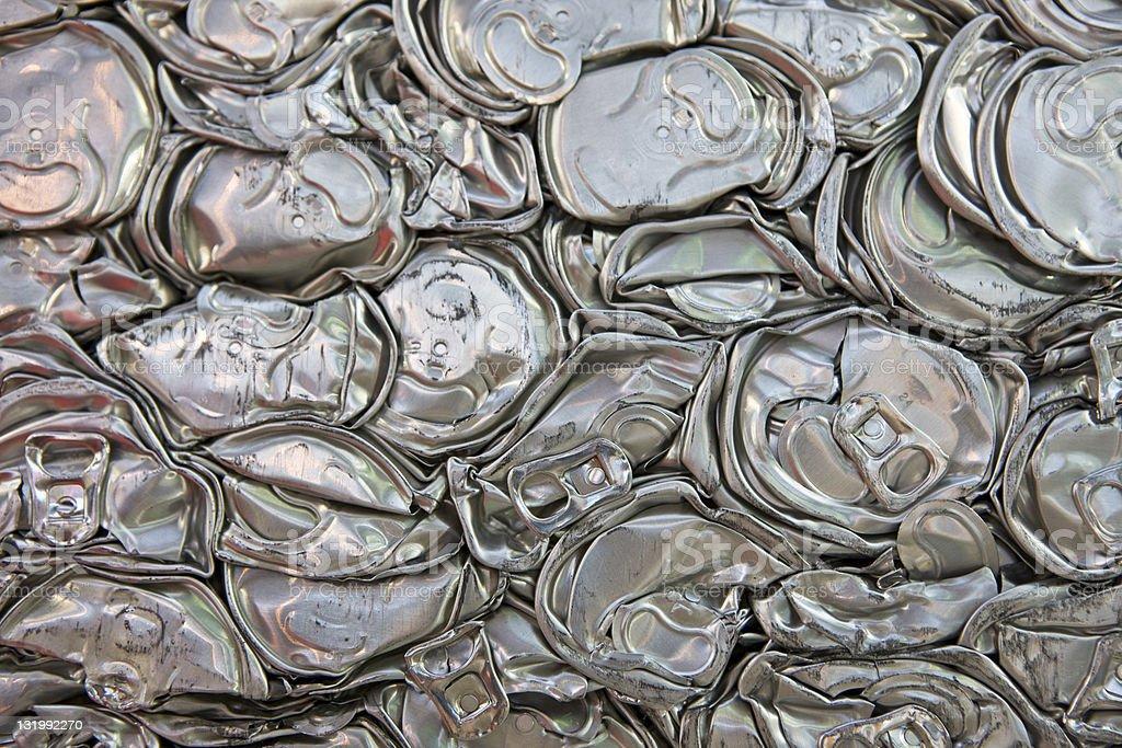 Crushed aluminium cans royalty-free stock photo