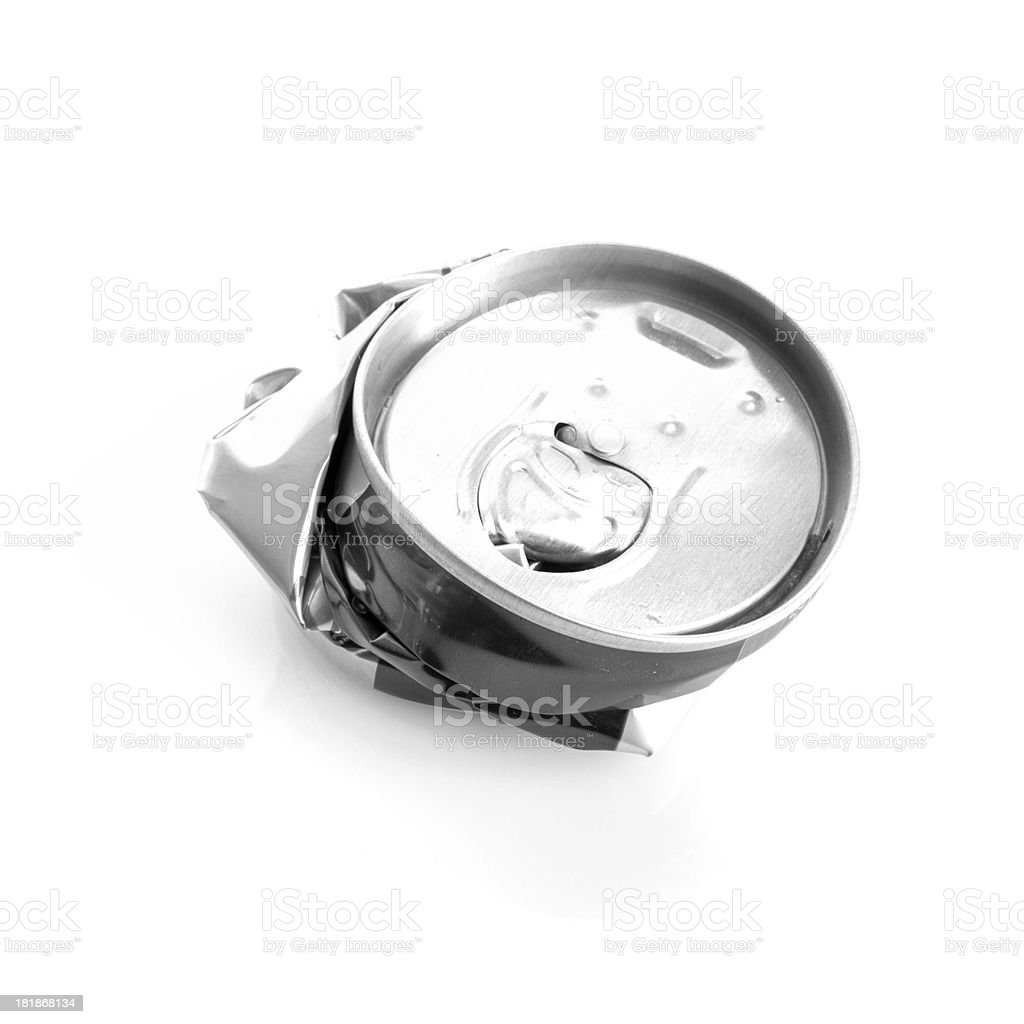 Crushed Aluminum Can royalty-free stock photo
