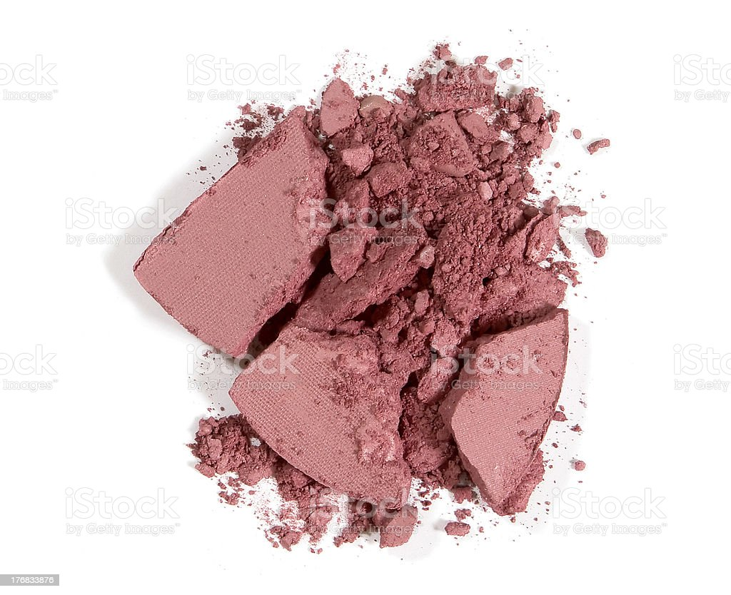 crushed blushon - makeup royalty-free stock photo