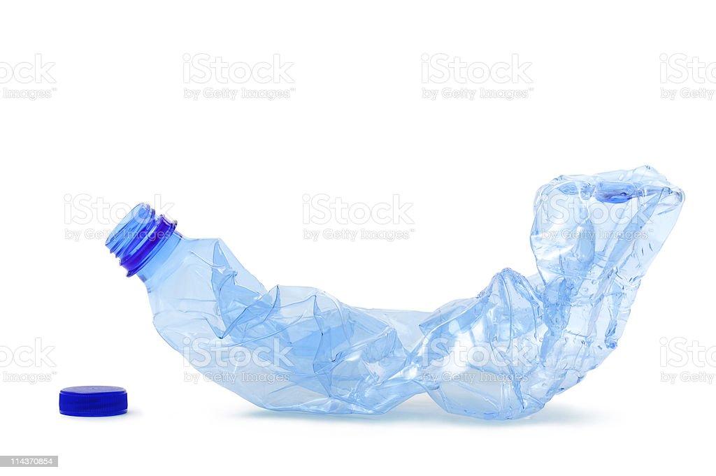 crushed bottle royalty-free stock photo