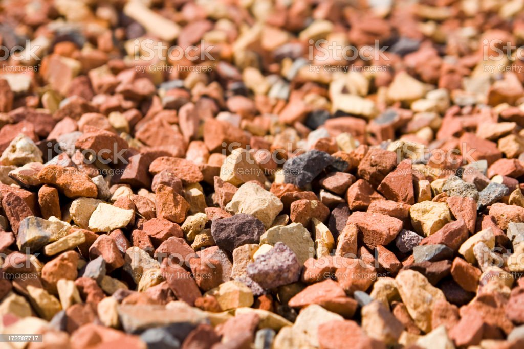 Crushed brick gravel path / close-up. royalty-free stock photo
