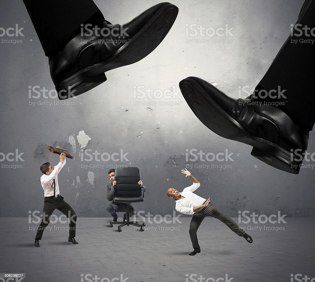 Crushed by taxes stock photo