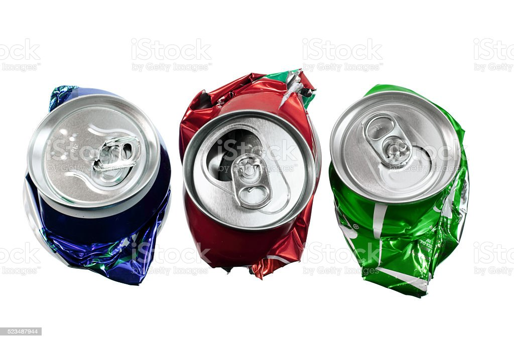 Crushed Cans stock photo