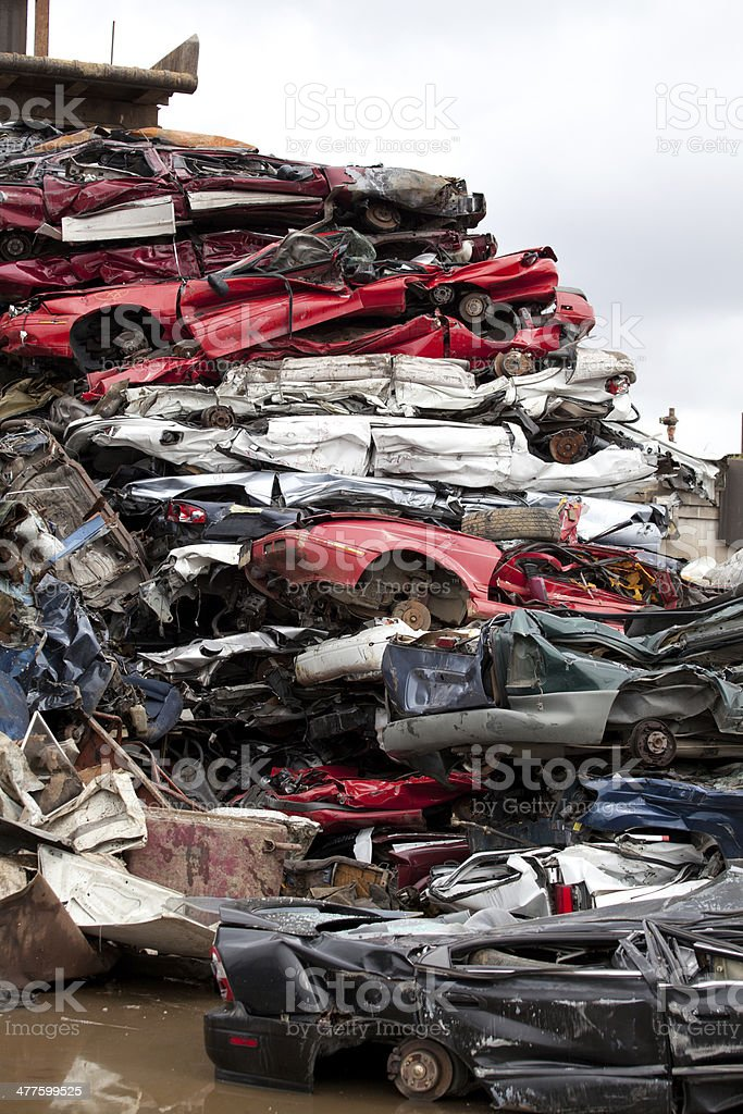 Crushed cars royalty-free stock photo