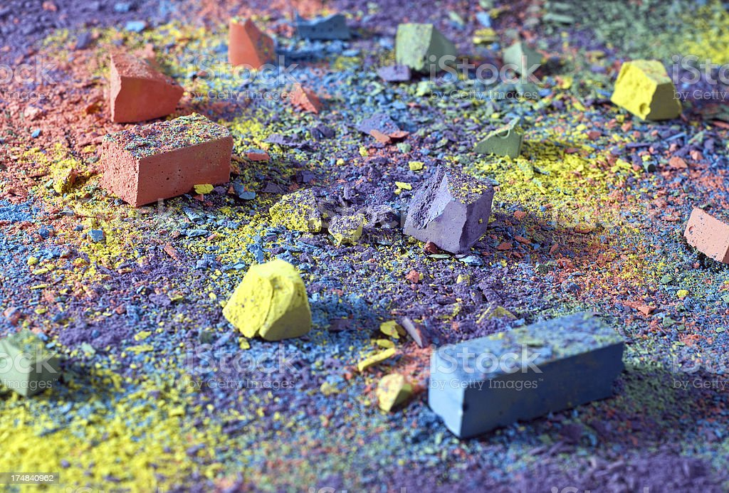Crushed chalk royalty-free stock photo